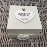 Shabby Personalised Chic Auntie Aunty Great Aunt Gift Trinket Box Jewellery Box - 332401603242